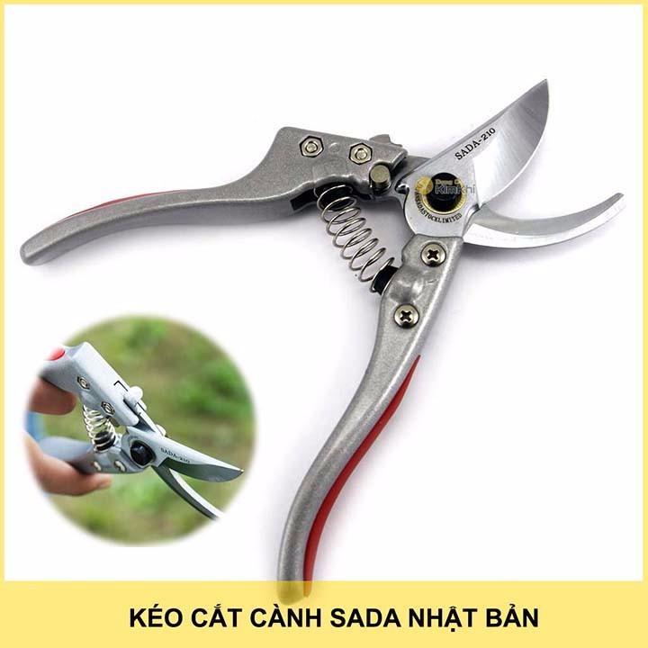 Kéo cắt cành cây Sada - 210 Nhật Bản - Kéo cắt cành cây Sada-210 Nhật Bản loại xịn giá rẻ - Có Khả Năng Tự Mài Lưỡi Kéo