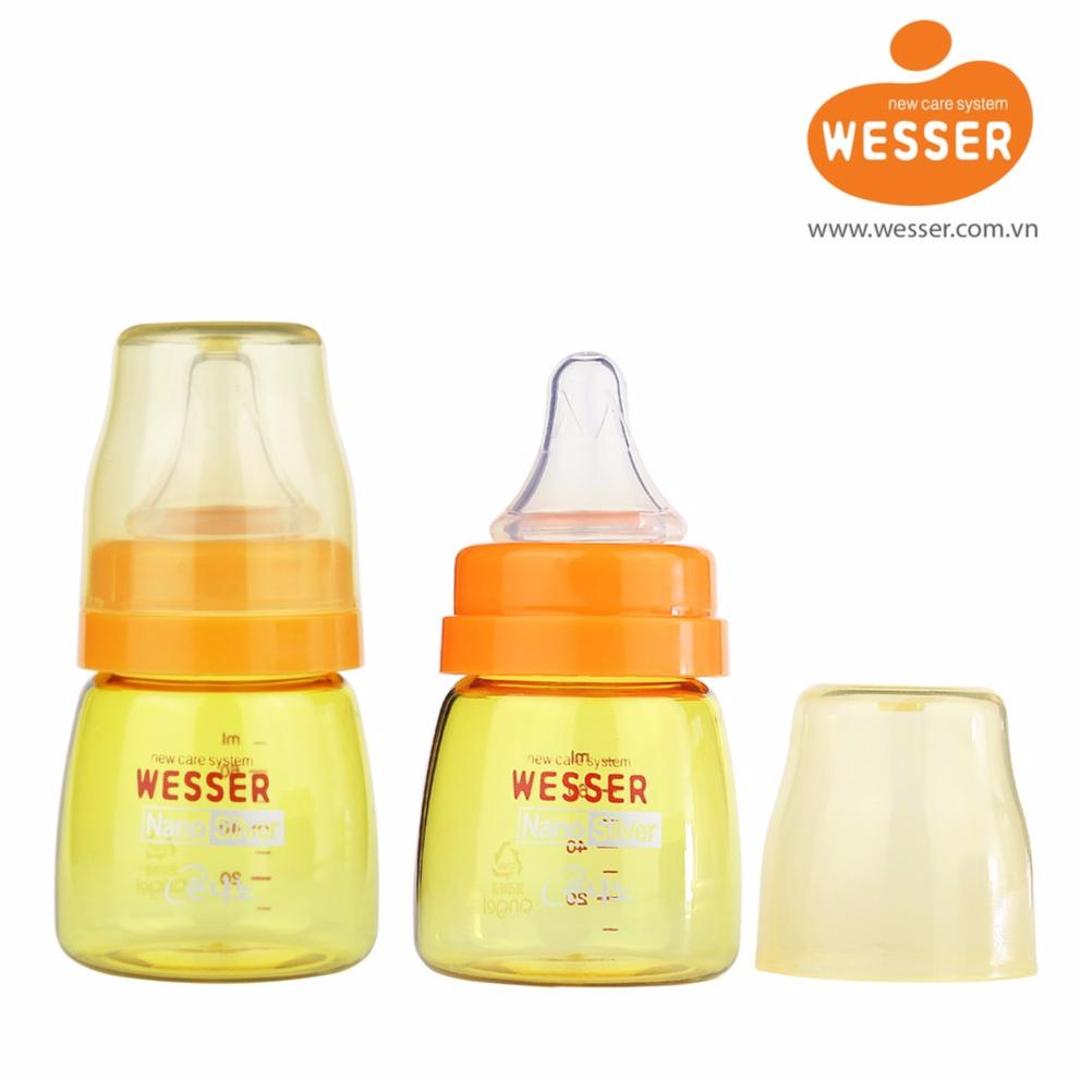 Giá Bán Bộ 2 Binh Sữa Wesser Nano Wesser 60Ml Cổ Hẹp Wesser Nano Silver