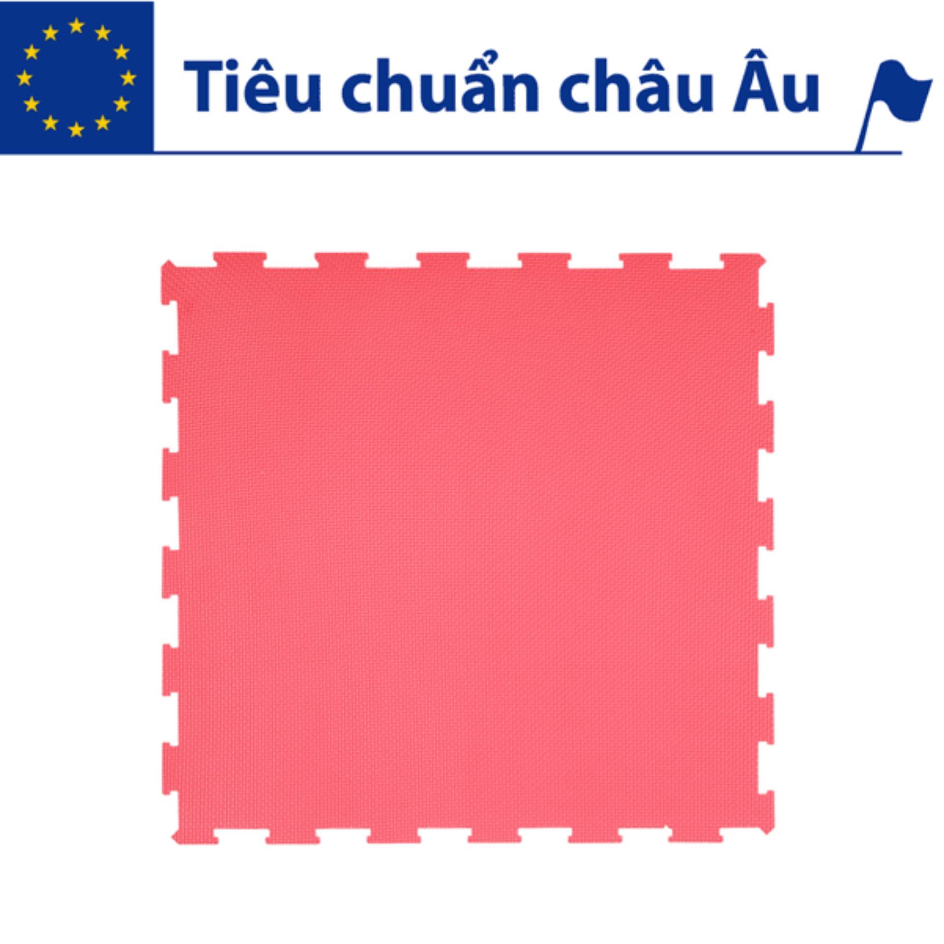 Thảm xốp lót sàn cho bé - đơn màu (4 miếng, 60x60x1.2cm, 1,44 m2 ) Smile Puzzle