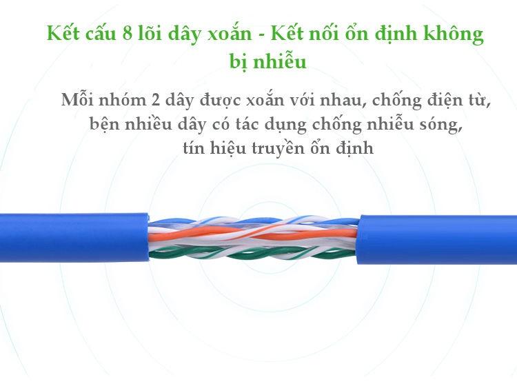 Dây mạng bấm sẵn 2 đầu Cat6 UTP Patch Cords UGREEN NW102 - 10M