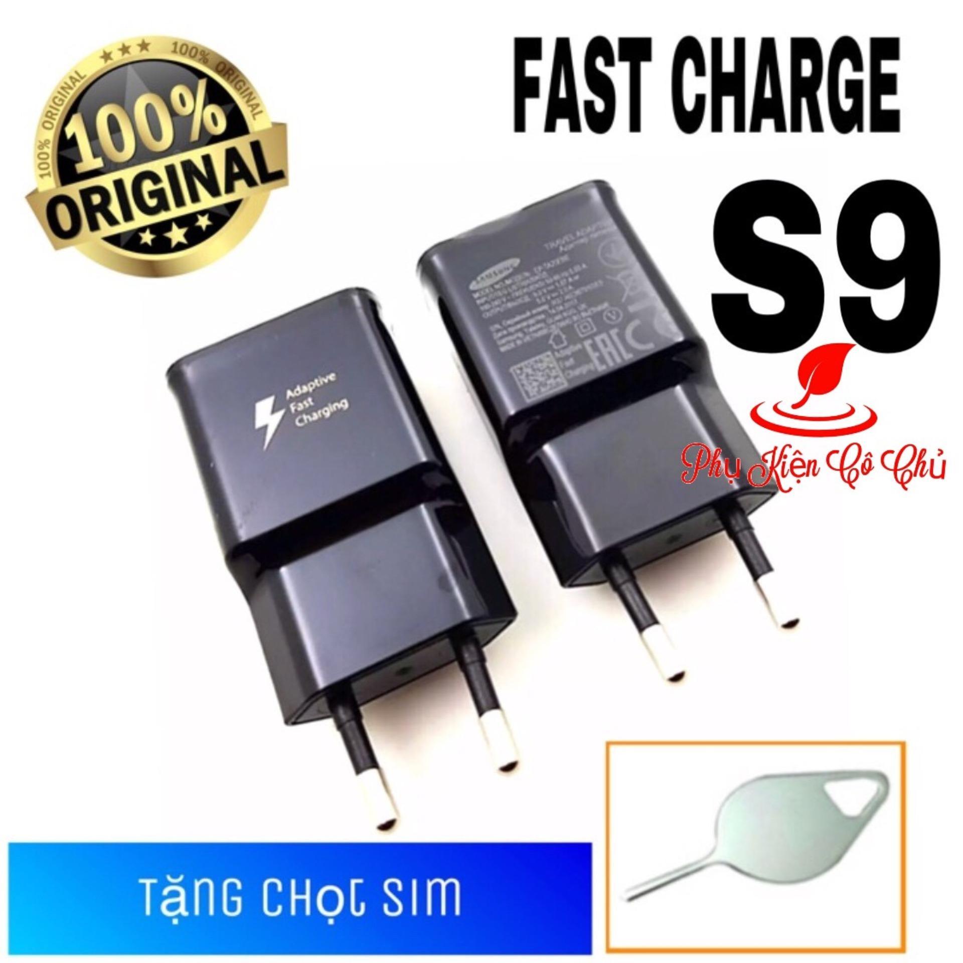Củ Sạc Nhanh SamSung S9/ S9+ ZIN Theo Máy (Đen)- Fast Charge