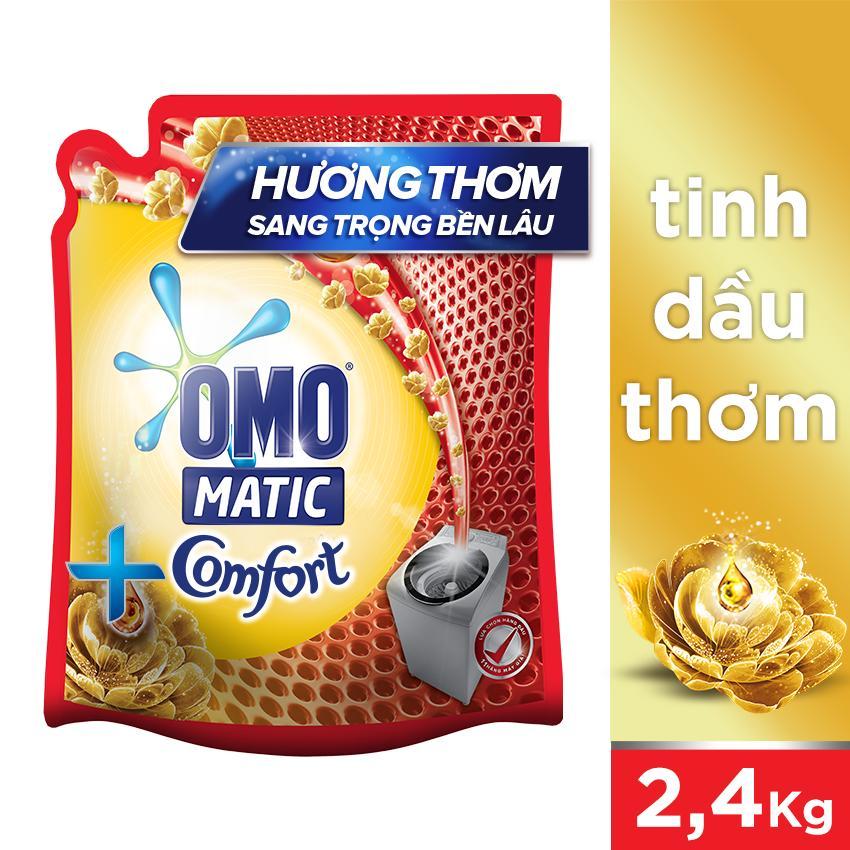 Hình ảnh Nước giặt Omo Matic Tinh dầu thơm Comfort túi 2.4kg