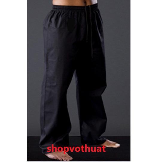 Quần Kungfu đen Vải Kaki - Quần Karate đen Vải Kaki Có Giá Cực Tốt
