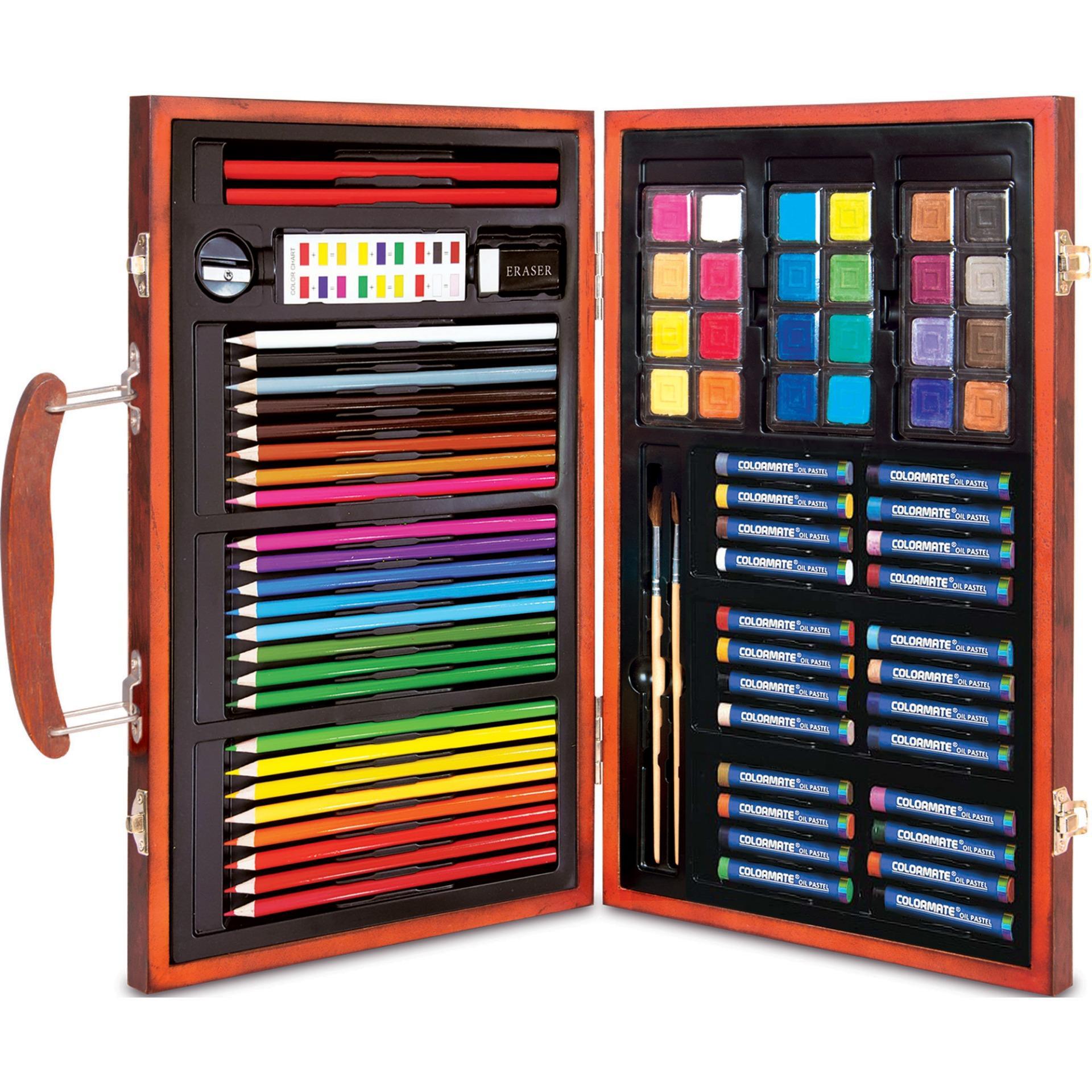 Hình ảnh Bộ màu vẽ đa năng hộp gỗ Colormate MS-83W