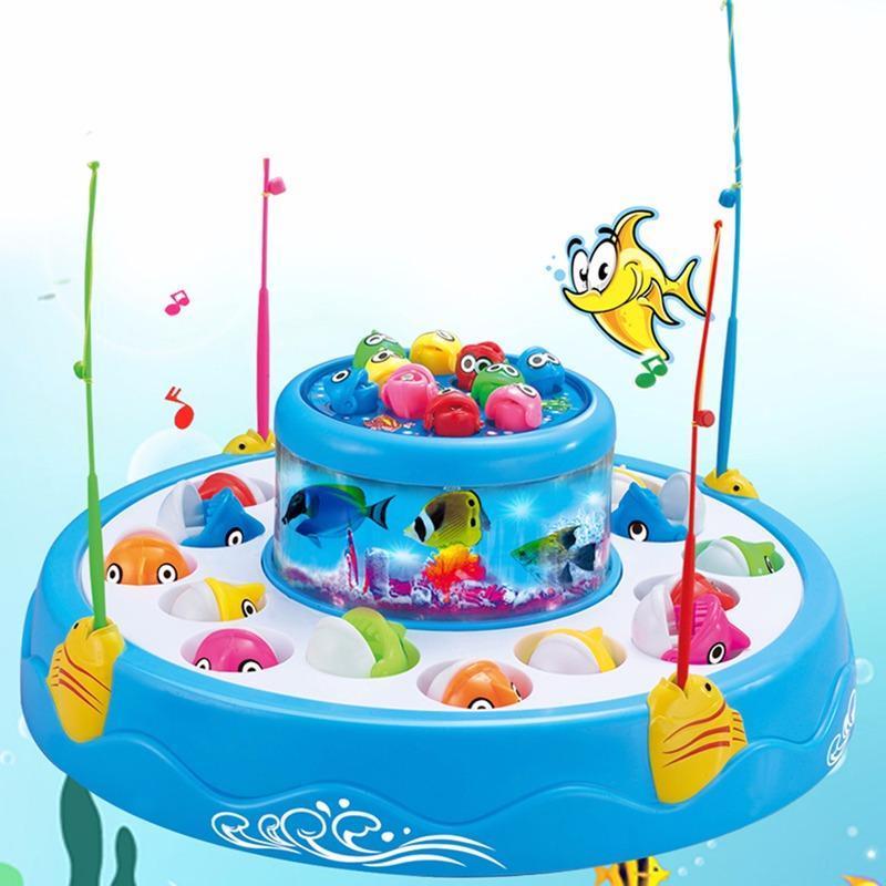 Hình ảnh Bộ đồ chơi câu cá nghe nhạc 2 tầng 4 cần câu cho bé yêu thỏa sức vui chơi