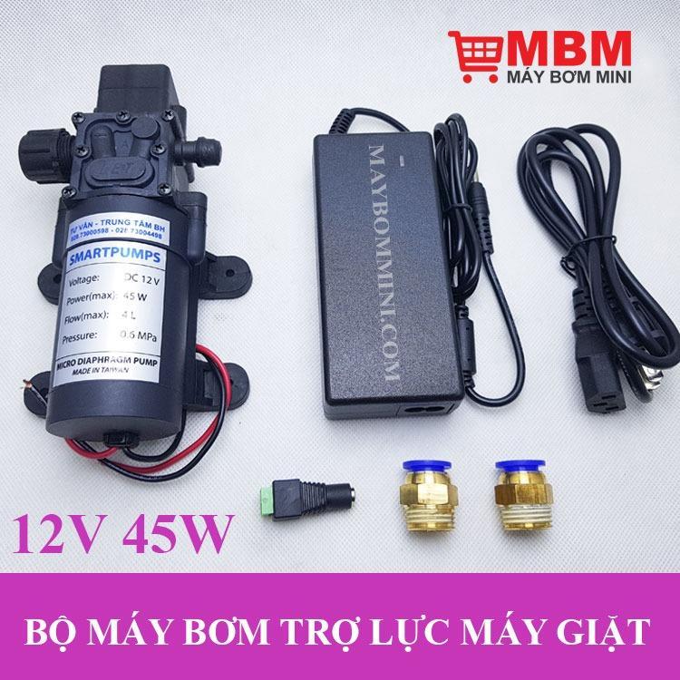 Hình ảnh Bộ máy bơm trợ lực nước máy giặt 12V 45W 4L