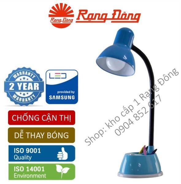 [Lấy mã giảm thêm 30%]Đèn bàn LED Rạng Đông 5W bảo vệ thị lực thay bóng dễ dàng không tia UV & cực tím. RL 25 Mới