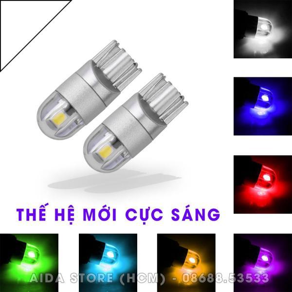 Cặp (02 bóng) đèn LED demi, xi nhan T10 2SMD 3030 siêu sáng