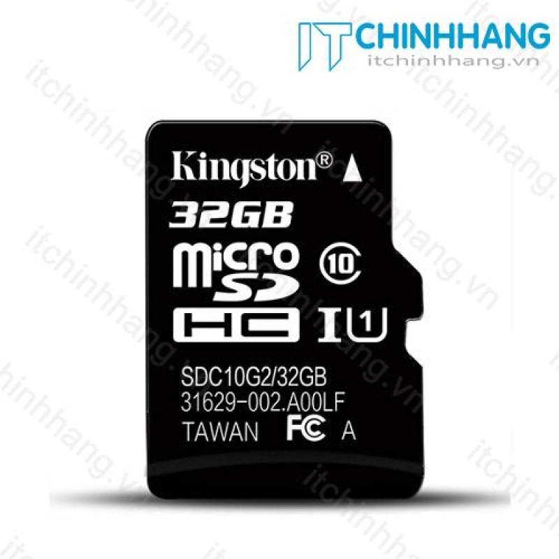 Thẻ nhớ 32GB  Micro SDHC Kingston Class 10 UHS-I 80MB/s - HÃNG PHÂN PHỐI CHÍNH THỨC