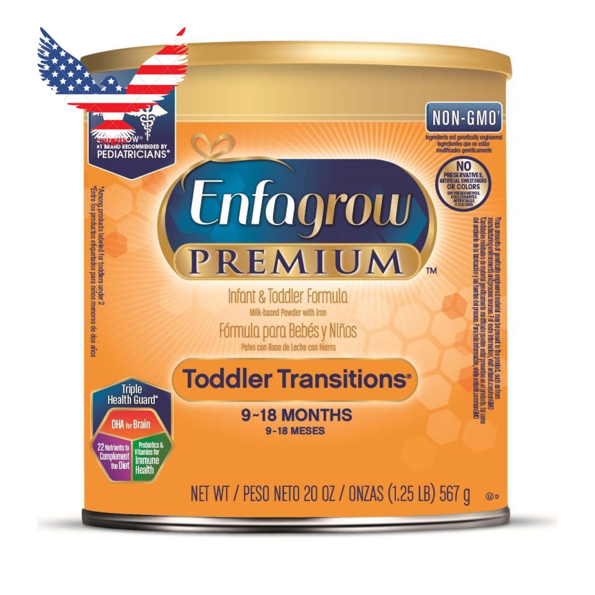 Mã Khuyến Mại Sữa Enfagrow Cho Trẻ Từ 9 18 Thang Tuổi Enfagrow Premium Infant Toddler Formula Non Gmo 567G Mỹ