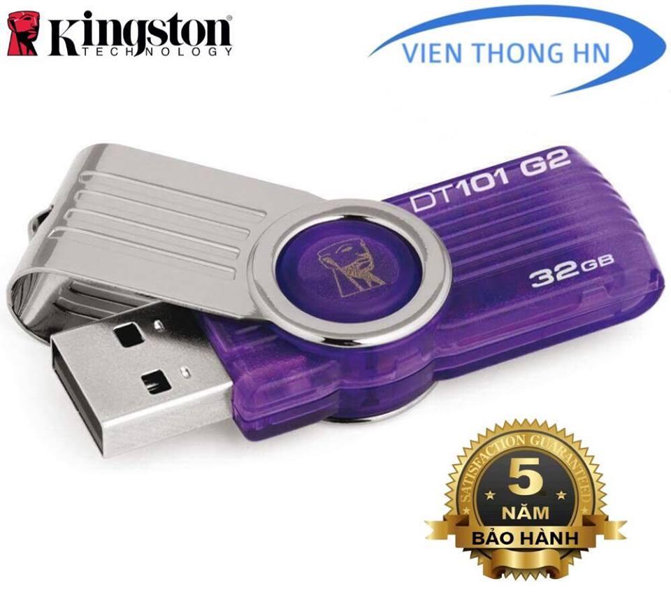 Hình ảnh USB 2.0 Kingston 32GB DT101 G2 - CÓ NTFS - BH 5 NĂM 1 ĐỔI 1