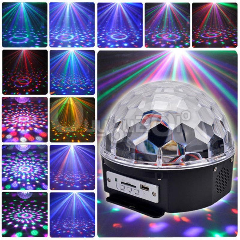 Đèn Nháy Led Trang Trí - Đèn pha lê 7 màu, den nhay trang tri - Đèn xoay sân khấu nhấp nháy có điều khiển