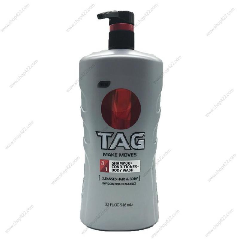 Sữa Tắm Gội Xả TAG 3in1 Make Moves 964ml
