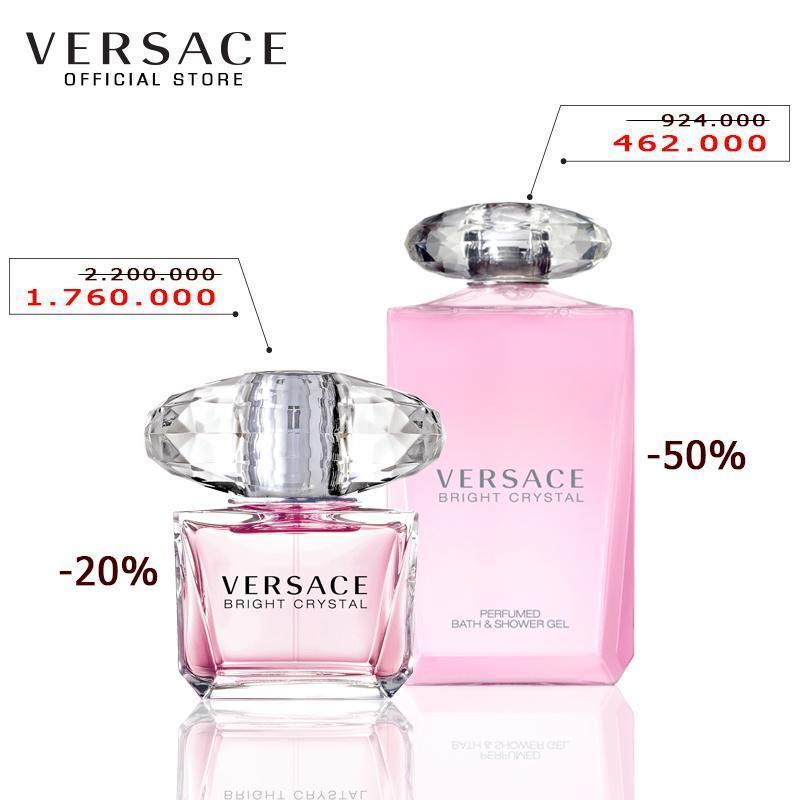 Bộ Nước hoa Versace Bright Crystal EDT 90ML và Sữa tắm Versace Bright Crystal Perfumed Bath and Shower Gel 200ML
