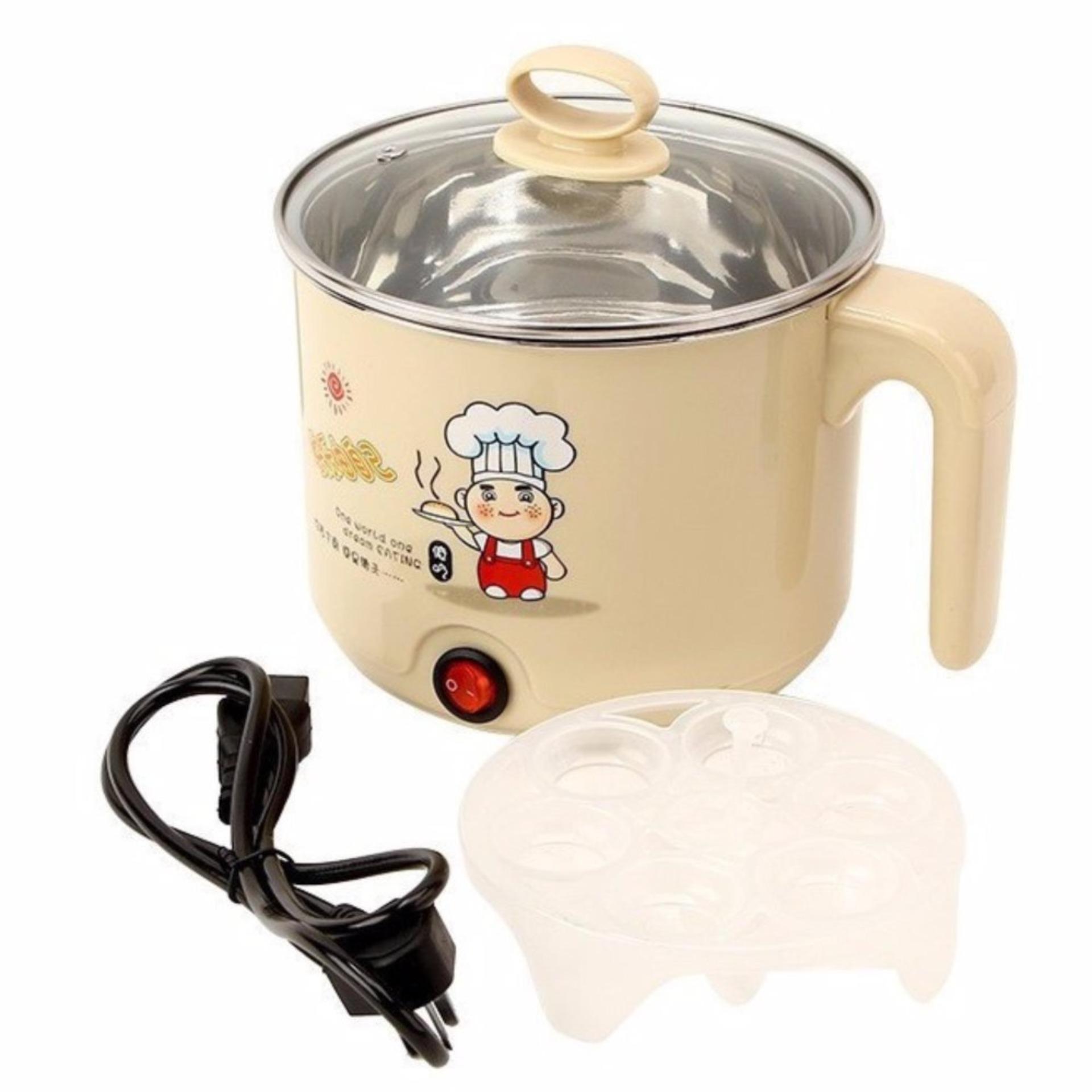 Gia am sieu toc/ Mua chảo điện đa năng ở đâu - Nồi nấu mì siêu tốc mini, thiết kế an toàn- giữ nguyên hương vị của món ăn, tiện nghi cho các bữa ăn gia đình, MS: BBS030