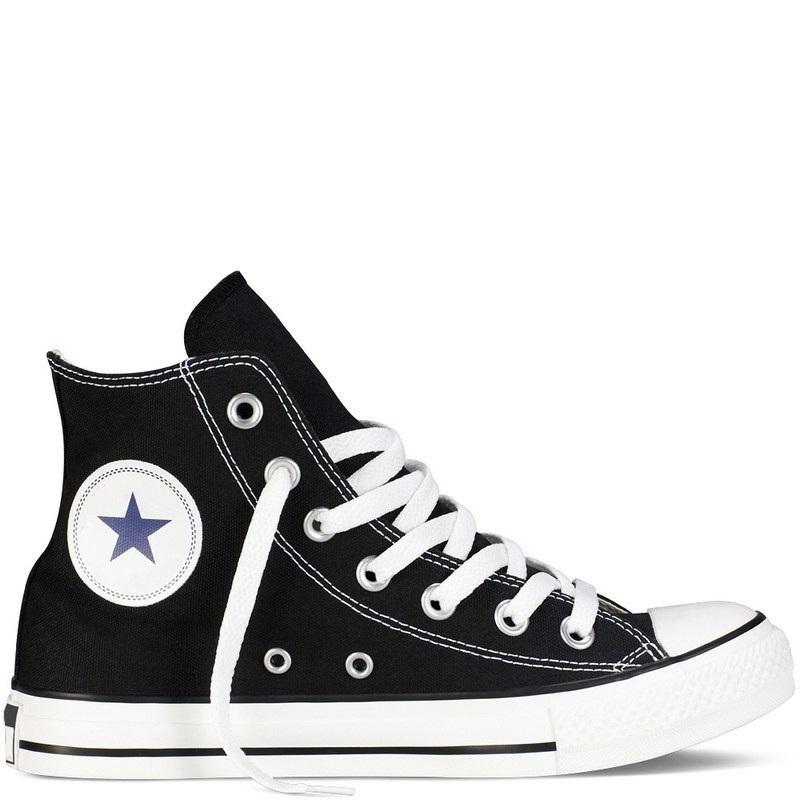 Giày Sneaker CV Nam Cổ Cao Màu Đen