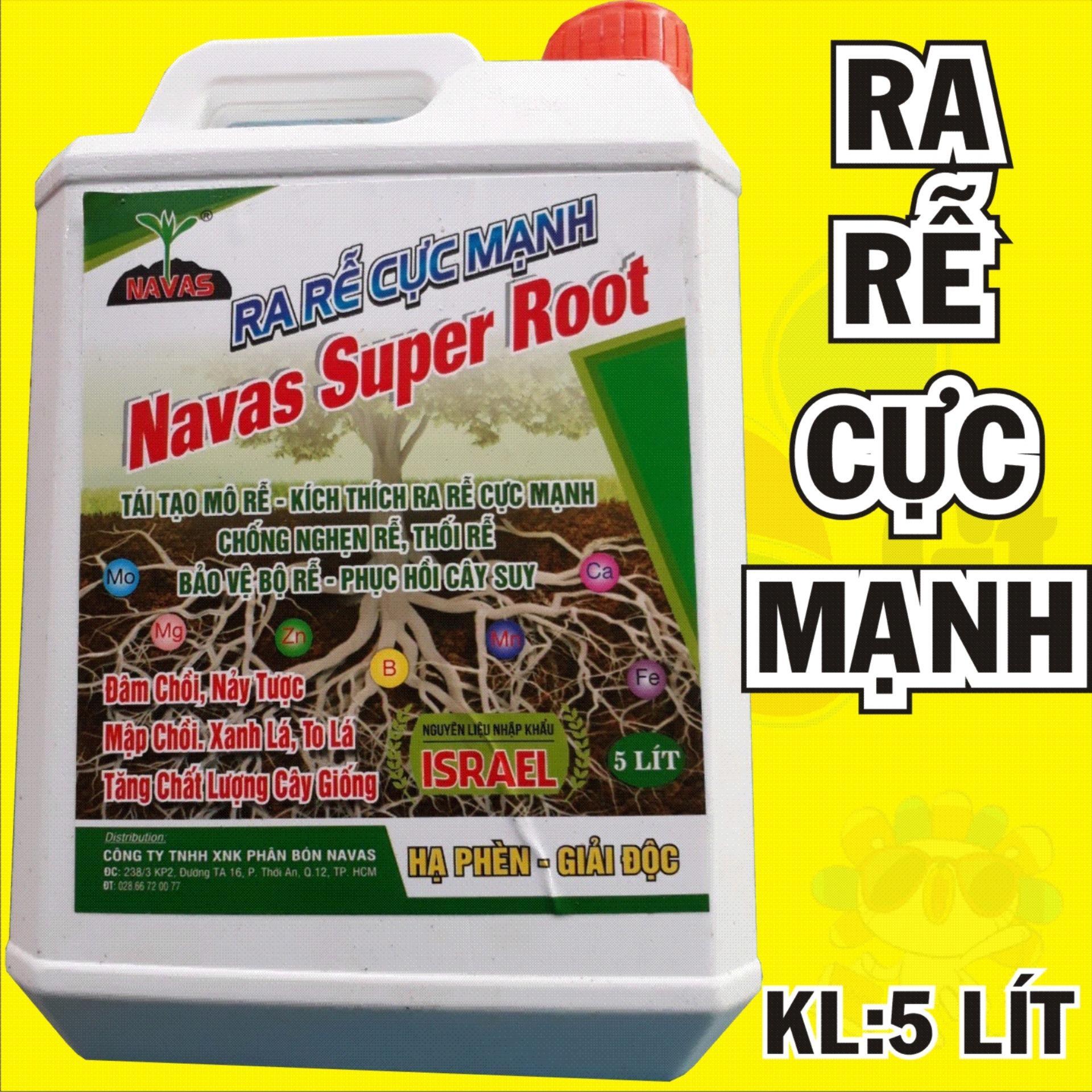 Ra rễ cực mạnh Navar super Root - đâm chồi, nảy tược, mập chồi, xanh lá - Can 5 Lít