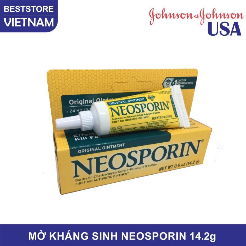 Mỡ Kháng Sinh NeoSporin - Original Ointment 14.2g, sản phẩm của Johnson & Johnson USA, giúp kháng viêm, hạn chế thẹo, giảm đau, giảm mẩn ngứa do côn trùng cắn hiệu quả, dùng được cho cả thú cưng