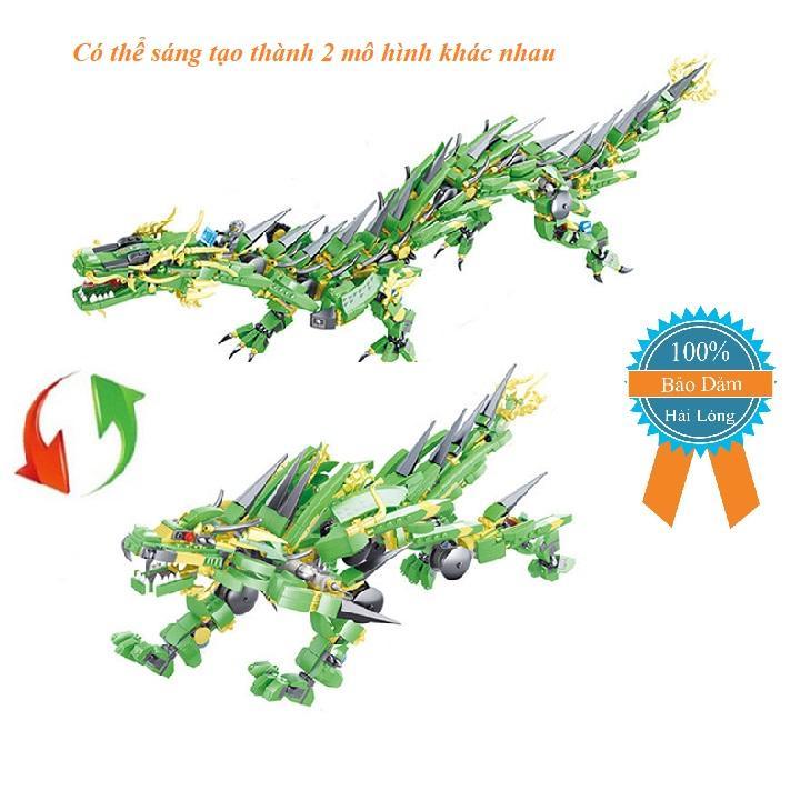Hình ảnh Bộ xếp hình Lego. rồng xanh chiến đấuBOZHI.196