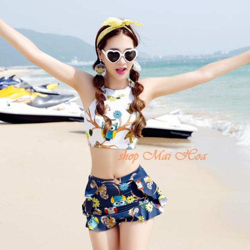 Nơi bán Áo Tắm 2 Mảnh Sắc Màu Kiểu Korea AT015 Mai Hoa