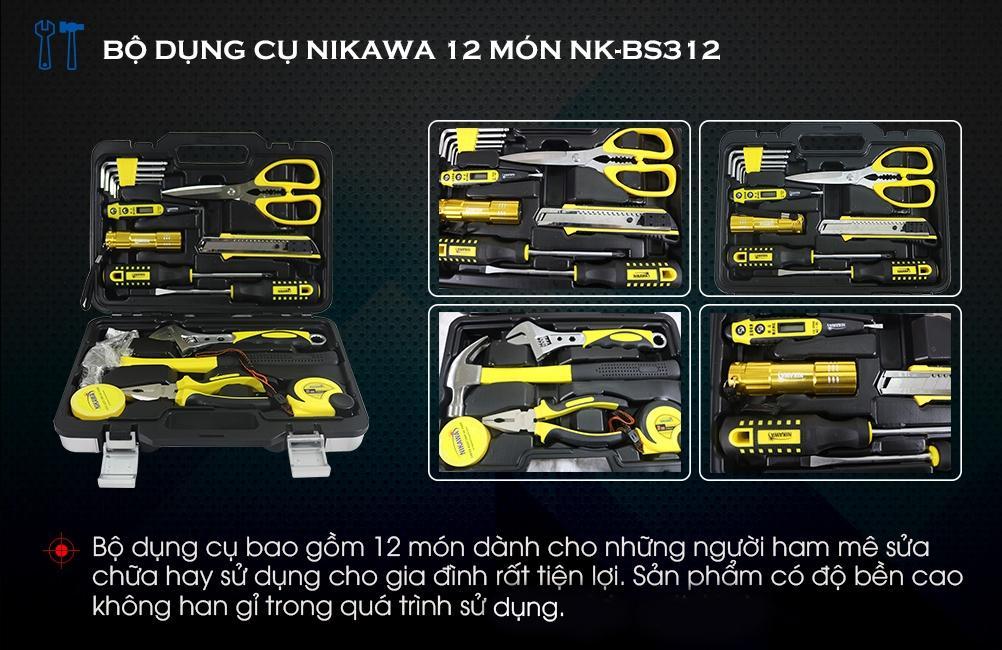 Bộ dụng cụ 12 món Nikawa BS-312