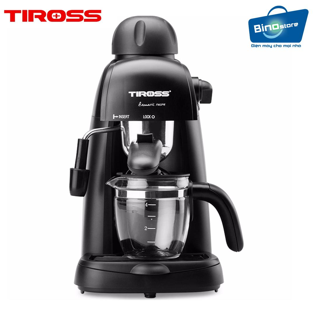 Máy pha cà phê Espresso 4 cốc Tiross TS620 (Đen)