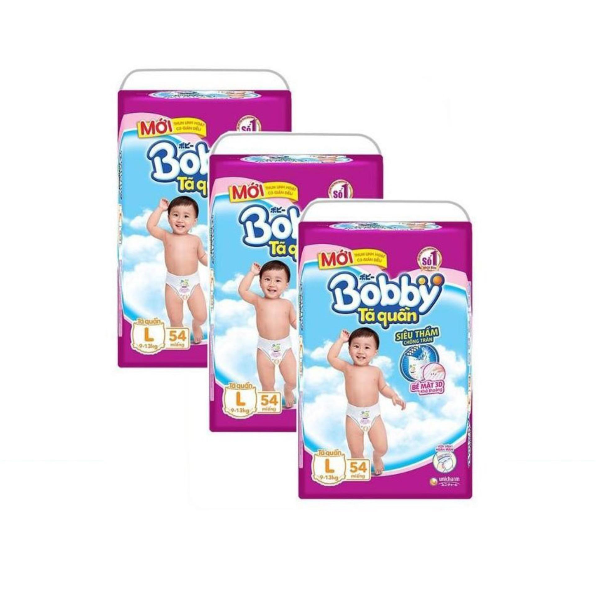 Bộ 3 gói tã quần Bobby L54