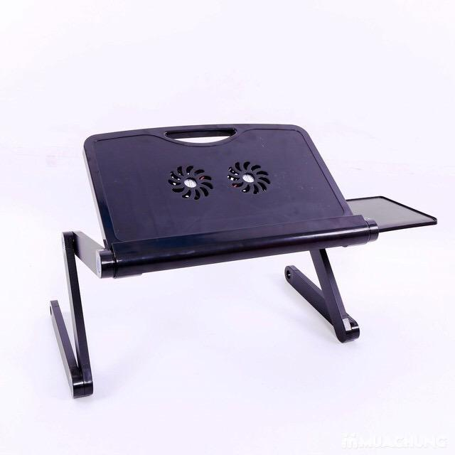 Hình ảnh Bàn xoay laptop 360 đọ có bàn di chuột và đế tản nhiệt