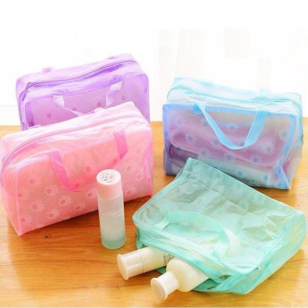 Bộ 2 túi đựng mỹ phẩm trong suốt nhiều màu tốt nhất