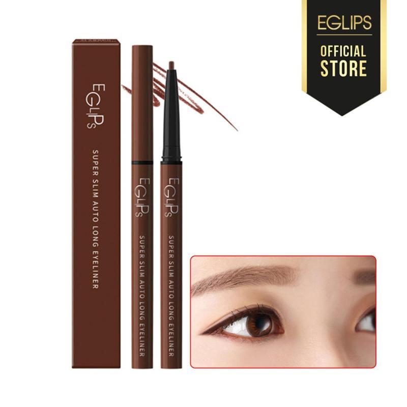 Kẻ mắt lâu trôi Eglips Super Slim Auto Long Eyeliner - S4 Chocolate Punch (Màu nâu đỏ) cao cấp
