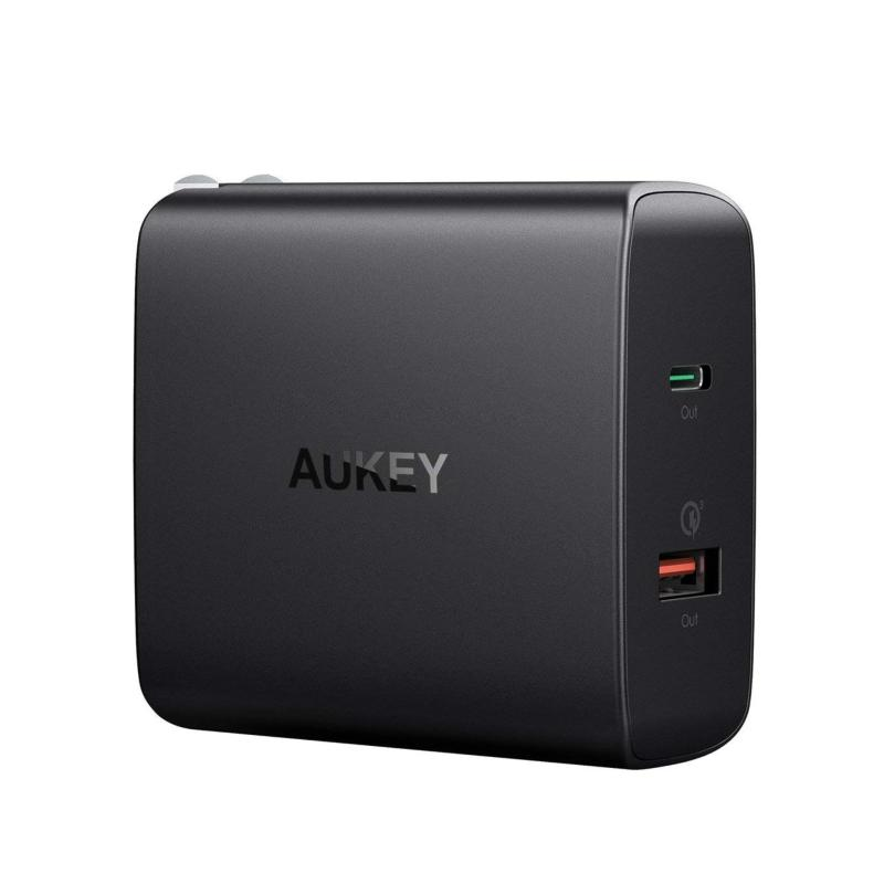 Giá Cốc Sạc Aukey 48W 1 Cổng USB Type C Power Delivery PD + 1 Cổng Quick Charge QC 3.0 - PA-Y11