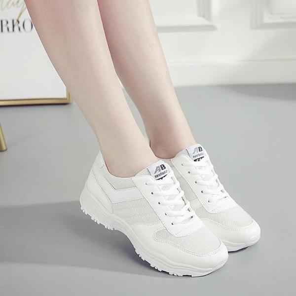 Giày Nữ Thể Thao - Giày Chạy Bộ Nữ BAZAS Y3-659W Màu Trắng