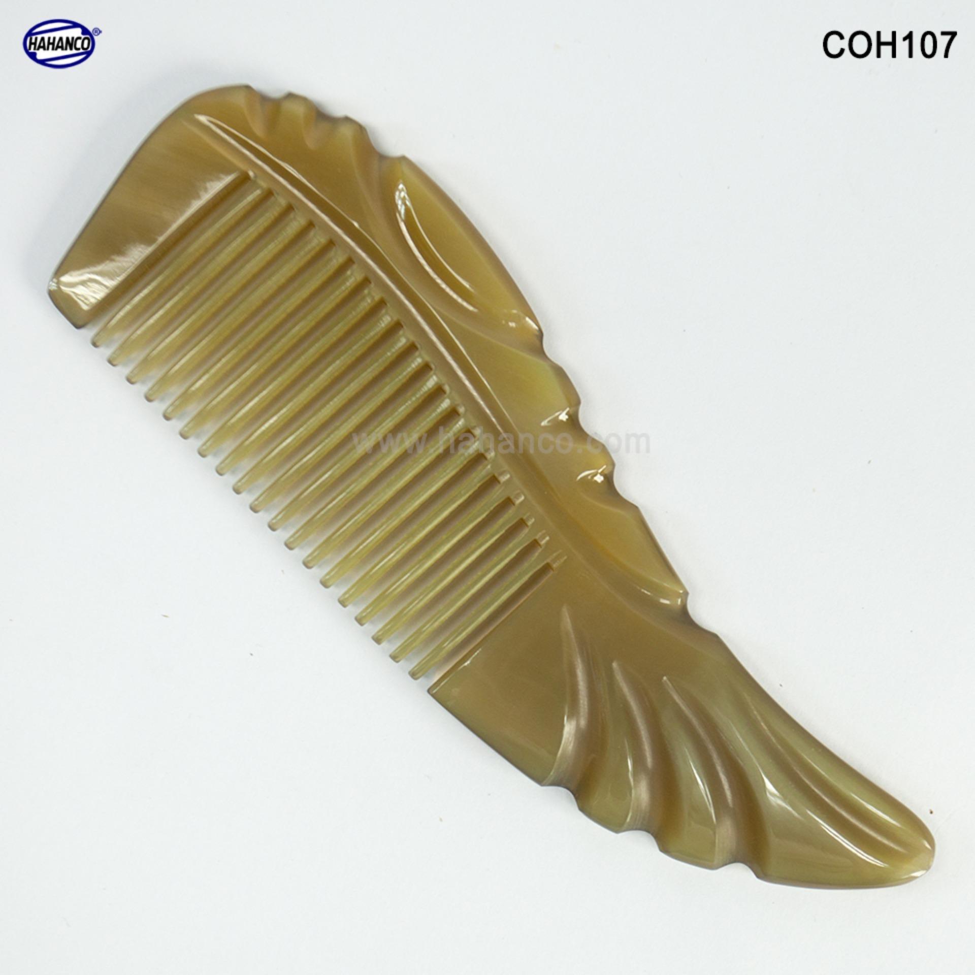 Lược sừng xuất Nhật - COH107 (Size: S) Cá Koi nhỏ bé - Horn Comb of HAHANCO - Lược chải tóc tốt cho sức khỏe