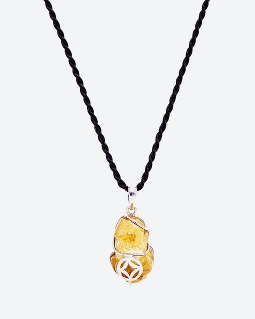 Mặt Dây Chuyền Bọc Bạc Đá Thạch Anh Tóc Vàng Tỳ Hưu Mệnh Kim, Thuỷ (màu vàng) - Ngọc Quý Gemstones