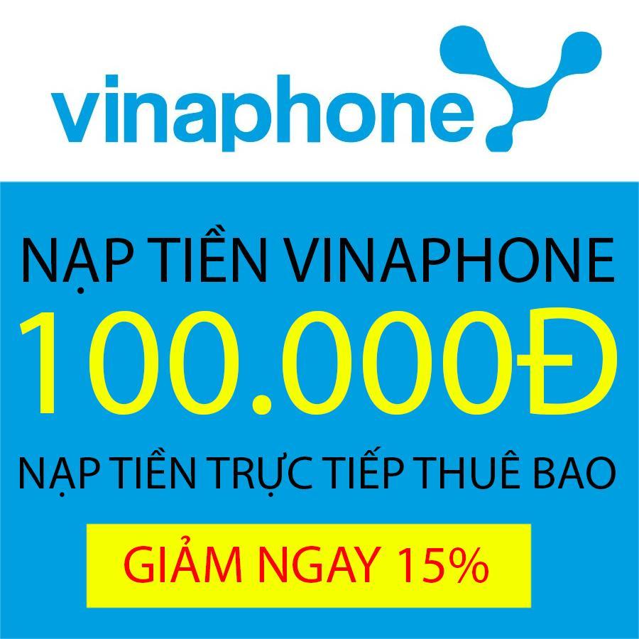 Nạp Tiền Trực Tiếp Thuê Bao Trả Trước Vinaphone 100.000 Đang Hạ Giá tại Lazada