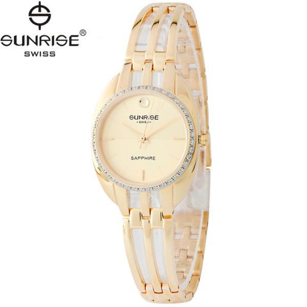 Đồng hồ nữ dây kim loại mặt kính sapphire chống xước Sunrise SL9938DLK V