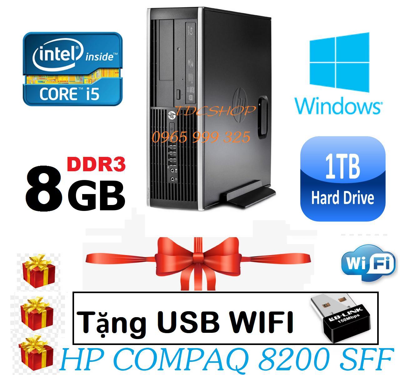 Thùng CPU HP 8200 Core i5 2400/ Ram 8gb/ Hdd 1000gb, Tặng usb wifi, Bảo hành 1 đổi 1 trong 24 tháng - Hàng Nhập Khẩu.