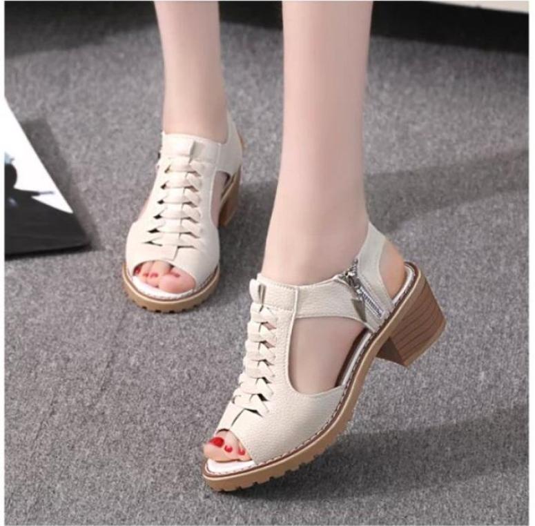 Giày Sandal nữ phong cách Hàn Quốc - SS2 giá rẻ