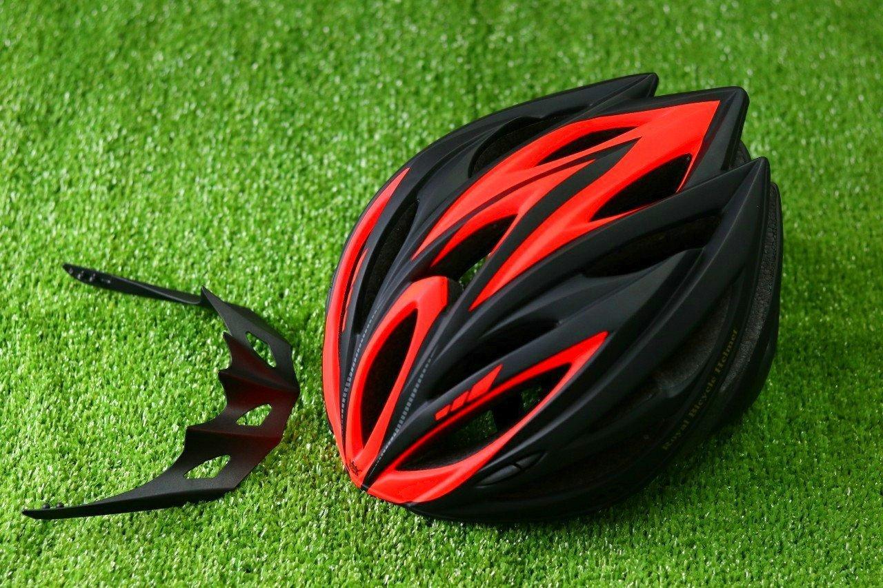 Nón Bảo Hiểm Xe đạp (đen Phối Cam  ) Khuyến Mại Hot