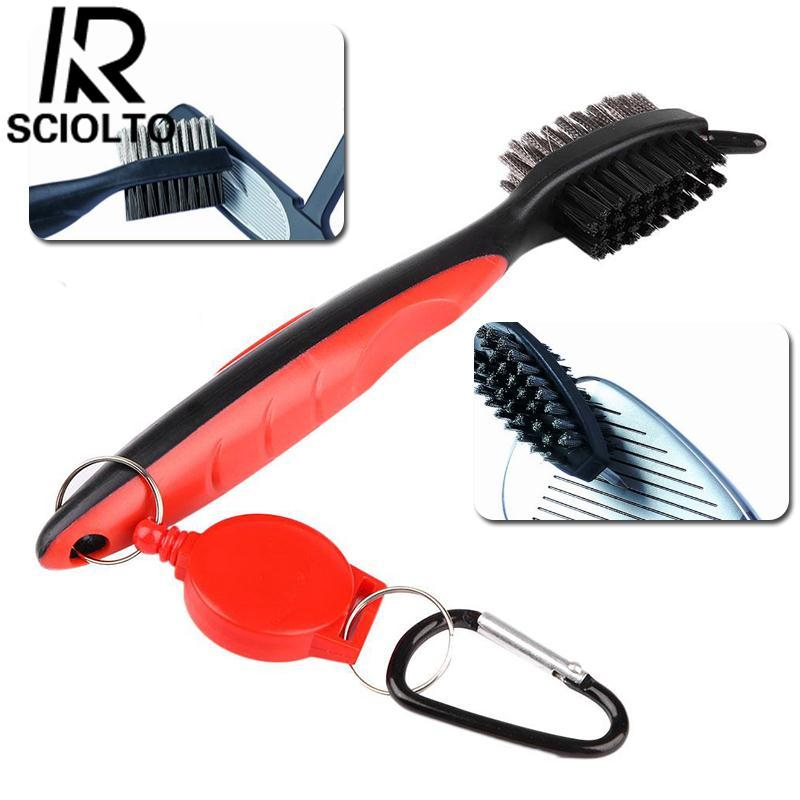 Hình ảnh (Free Shipping)SCIOLTO SPORTS Groove Cleaning Brush Double-Side With Keychain For Golf Ball Club Cue Cleaner - intl