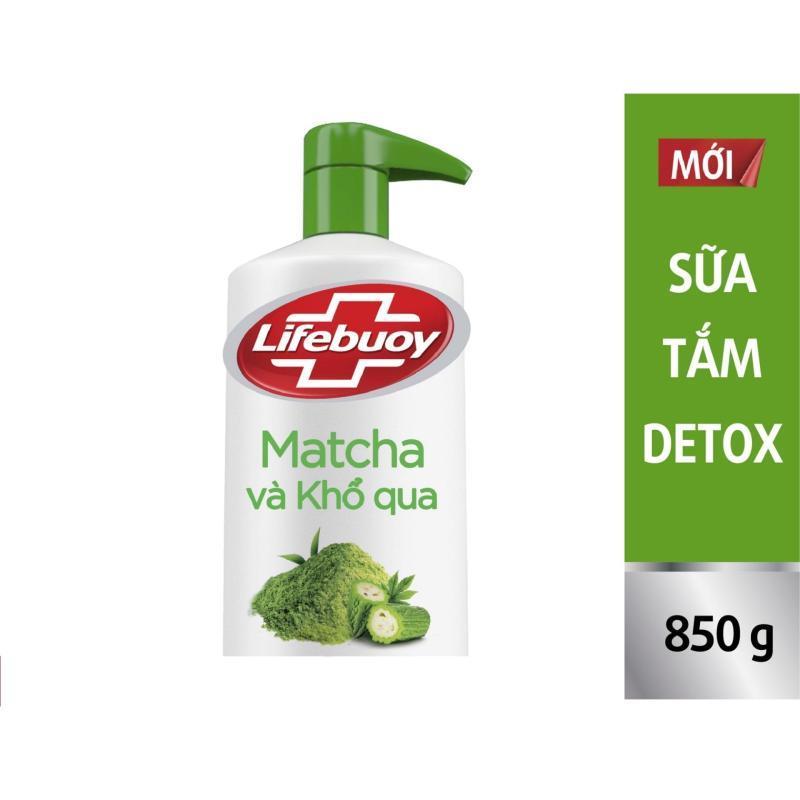 Sữa tắm detox Lifebuoy - Matcha & Khổ qua 850g nhập khẩu