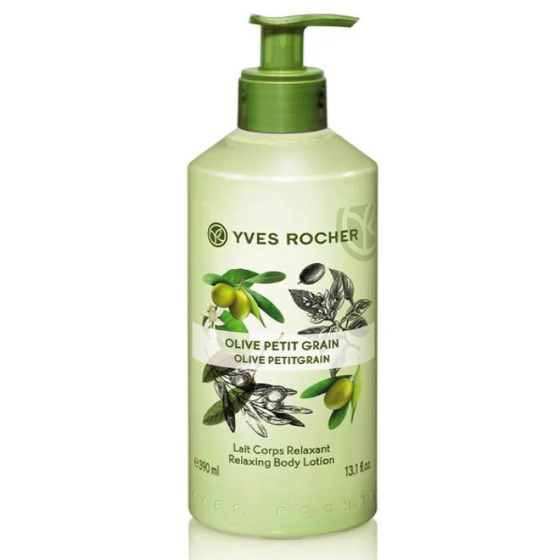 Sữa Dưỡng Thể Yves Rocher Olive Petit Grain Lait Corps Relaxant Body Lotion 390ml nhập khẩu