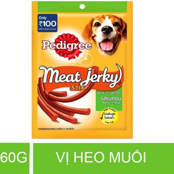 Thức ăn thưởng cho chó vị Heo muối que 60g – Pedigree Meat Jerky Smoky Stix Bacon Flavor – PD 004