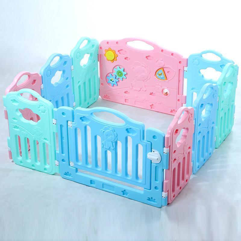 Hình ảnh Hàng rào lắp ghép tạo phòng chơi cho bé đa màu sắc