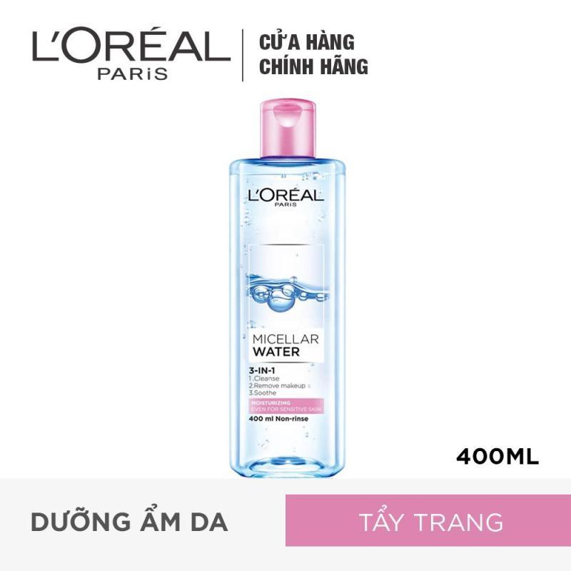 Nước tẩy trang dưỡng ẩm LOreal Paris Micellar Water 400ml nhập khẩu