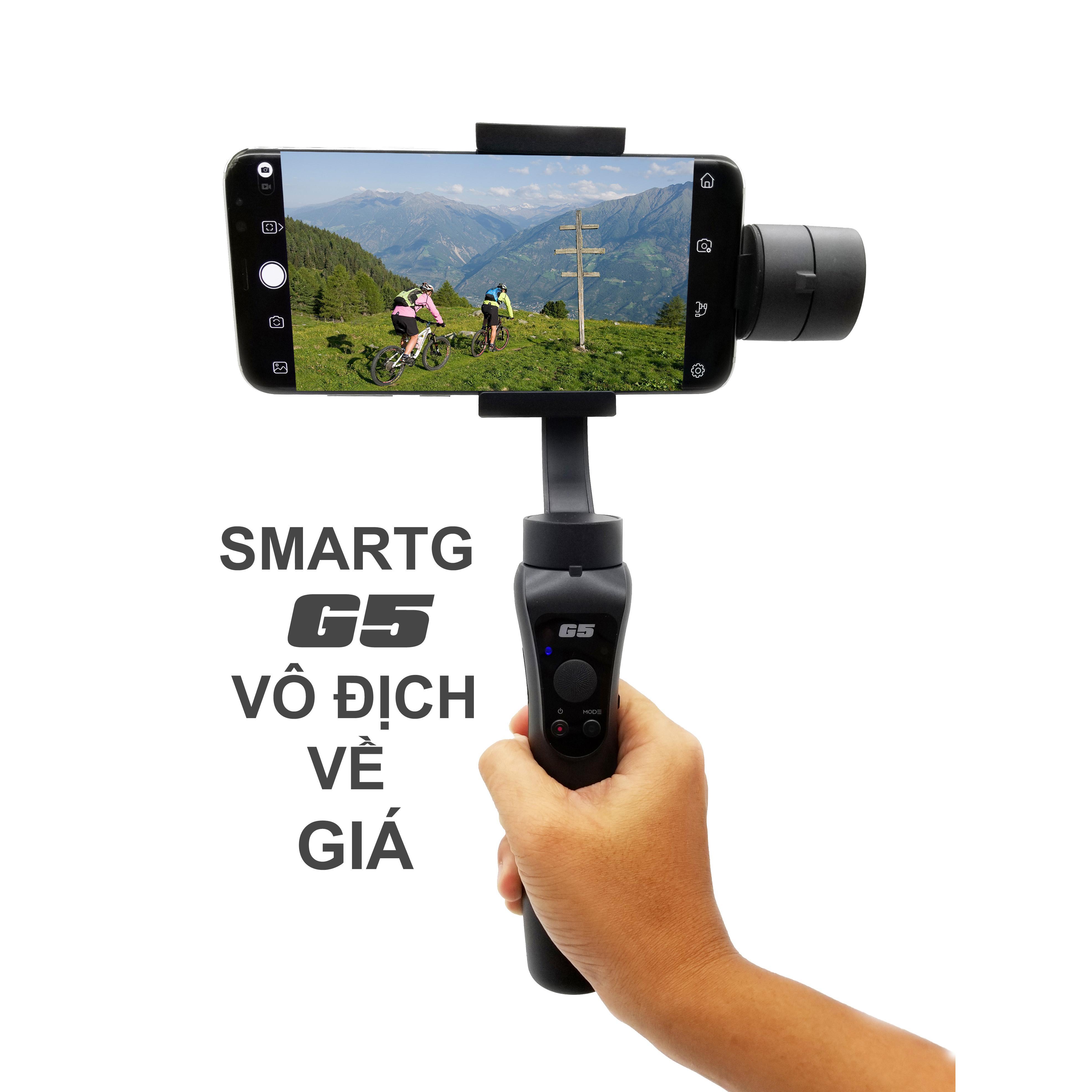 Hình ảnh Gimbal SmartG G5 chống rung cho Smartphone, Gopro, Gitup, Sjcam, Eken - Đối thủ đáng gờm Zhiyun Smooth Q