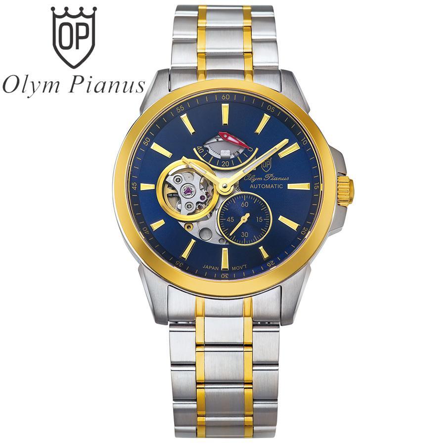 Đồng hồ nam mặt kính sapphire Olym Pianus OP9908-88.1AGSK xanh lam bán chạy