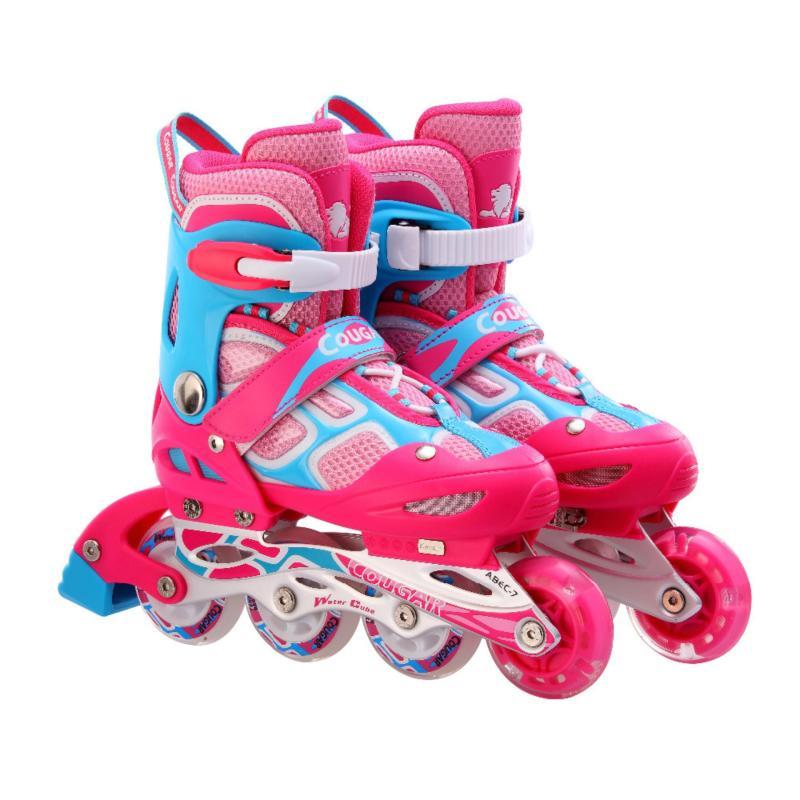 Mua Giày trượt patin Cougar màu hồng xanh có đèn