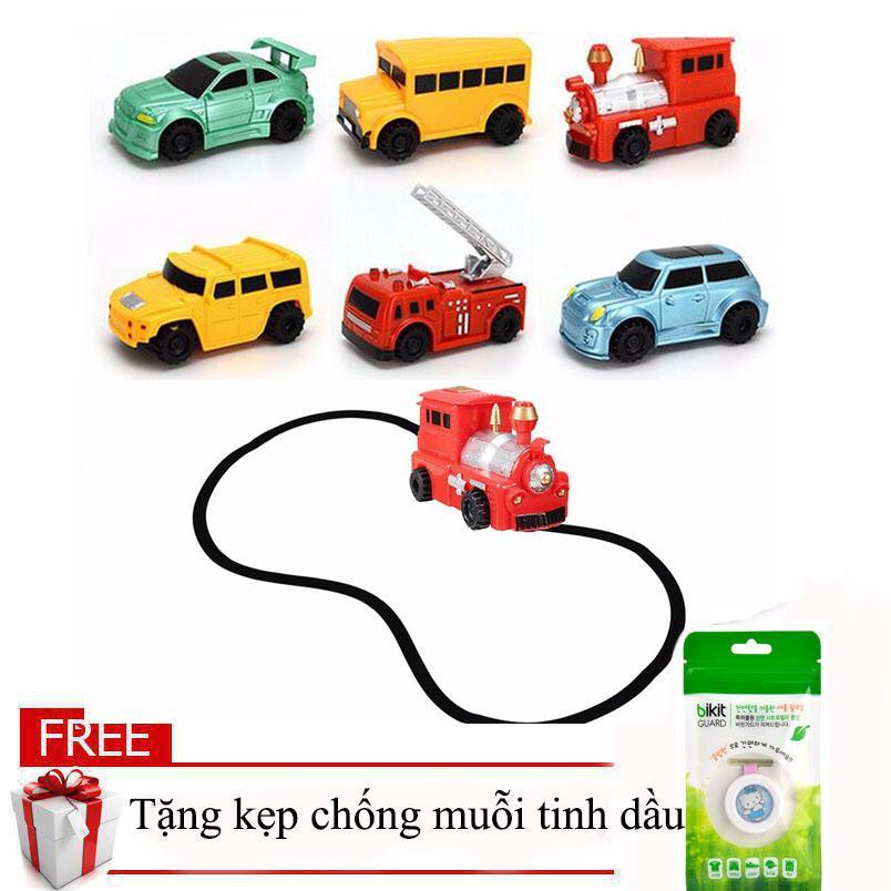 Hình ảnh Đồ chơi thông minh xe ô tô chạy theo nét vẽ giá rẻ (Hình ngẫu nhiên) tặng kẹp chống muỗi tinh dầu cho bé