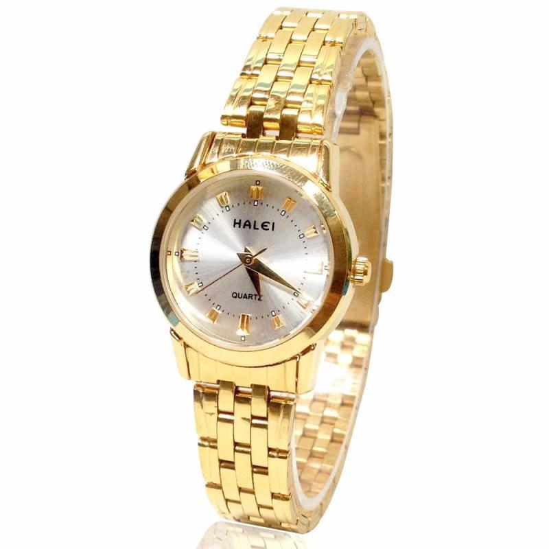 Đồng hồ nữ mạ vàng cao cấp Halei HL4404a